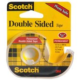 Scotch, Permanent Double Sided Tape in Dispenser, .50 x 450 Inches, Clear