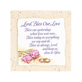Product Concepts, Lord Bless Our Love Tabletop Plaque, Natural Stone, 4 x 4 inches