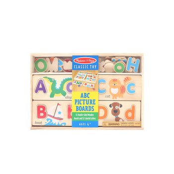 Melissa & Doug, Wooden ABC Picture Boards, Ages 4 to 6 Years Old, 65 Pieces