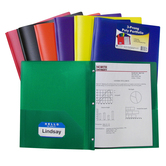 Two-Pocket Poly Folder with Prongs