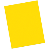 Pacon, Heavy Poster Board, 22 x 28 Inches, Yellow, 1 Piece