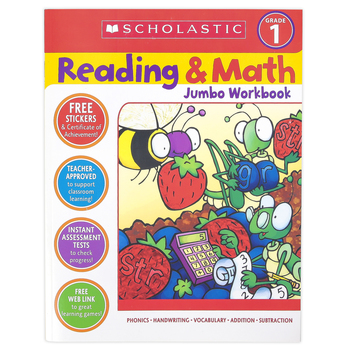 Scholastic, Reading and Math Jumbo Activity Workbook, 320 Pages, Grade 1