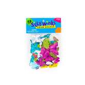Silly Winks, Glitter Butterfly Foam Stickers, 3/4 - 1 3/4 inches, Assorted Colors, 48 count