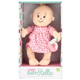 Manhattan Toy Company, Wee Baby Stella Plush Peach Doll, Ages 12 Months and Older, 2 Piece Set