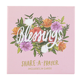 Eccolo Ltd., Share A Prayer Cards, Floral Designs, 4 x 4 inches Each, 24 Cards