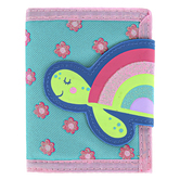 Stephen Joseph, Rainbow Turtle Bi-Fold Wallet, Ages 3 to 6 Years Old, 5 x 4 1/2 inches