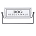 Dog Walked Rotating Tabletop Sign, Metal, Black & White, 3 1/4 x 10 x 4 3/4 inches