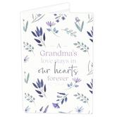 P. Graham Dunn, A Grandma's Love Keepsake Card, Wood, Purple and White, 8 x 6 x 1/4 inches