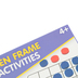 Junior Learning, 50 Ten Frame Activities, 51 Pieces, Multi-Colored, Grades K-3