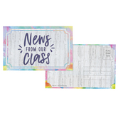 Retro Chic Collection, News From Our Class Postcards, Multi-Colored, 3.5 x 5.5 Inches, Pack of 36