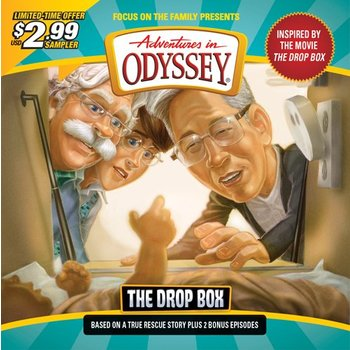 Adventures in Odyssey Sampler: The Drop Box Three Stories, by Focus On The Family, Audio CD
