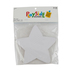 Playside Creations, Star Paper Shapes, 5.9 x 5.9 Inches, White, Classroom Pack, 30 Count