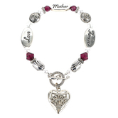 D.M. Merchandising, Expressively Yours Love Mother Forever Stretch Bracelet, One Size Fits Most