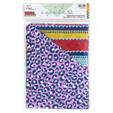 the Paper Studio, agenda 52 Cheetah Folder Planner Inserts, 1 Each of 4 Designs