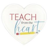 P. Graham Dunn, Teach From The Heart Magnet, Acrylic, 2 3/4 x 2 3/4 x 1/4 inches