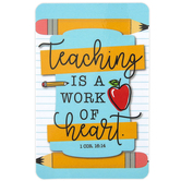 Dicksons, 1 Corinthians 16:14 Teaching Is A Work Of Heart Pocket Card, 2 1/2 x 4 inches