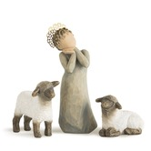 Willow Tree, Little Shepherdess Figurine - Nativity