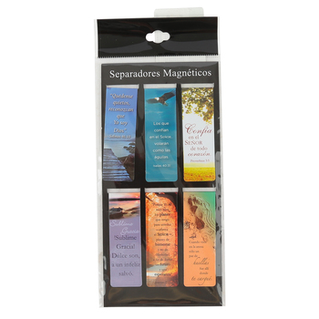 Christian Art Gifts, Inspirational Magnetic Bookmarks (Spanish), Multi-Colored