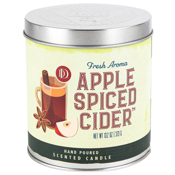 Darsee & David's, Apple Spiced Cider Scented Candle Tin, 13.2 Ounces