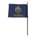 Annin Flagmakers, Kansas State Flag with Rod, 4 x 6 Inches, Multi-Colored, 1 Pieces