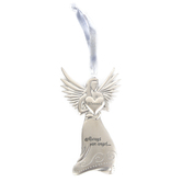 The Grandparent Gift Co, Blessed Baptism Angel Ornament, Silver, 5 1/4 x 5 1/4