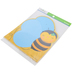 Renewing Minds, Bee Shaped Notepad, 6-1/4 x 7 Inches, Black, Yellow and Blue, 50 Sheets