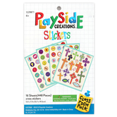 Playside Creations, Cross Sticker Book, 3/4 x 1 3/4 Inches, Multi-Colored, 448 Count