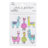 the Paper Studio, Stickabilities, Llama Puffy Stickers, 1 Each of 6 Designs