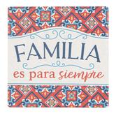 P. Graham Dunn, Family Is Forever Spanish Coaster, Ceramic, 4 inches