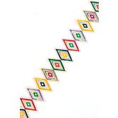Color Me Brilliant Collection, Die-Cut Border Trim, 38 Feet, Tribal Diamonds