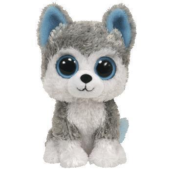 Ty, Beanie Boos, Slush Husky Dog, Gray, 6 inches
