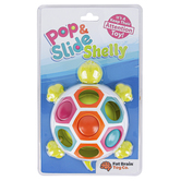 Fat Brain Toys, Pop & Slide Shelly Toy, Ages 10 Months & Older, 5 x 2 1/4 x 3 inches
