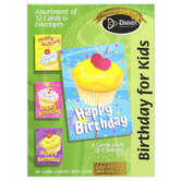 Divinity Boutique, Cupcake Birthday for Kids Boxed Cards, 12 Cards with Envelopes
