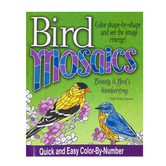 Product Concept Manufacturing, Bird Mosaics Color-by-Number, Paperback, 24 Designs