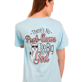Beautifully Blessed, There's No Prob-llama, Women's Short Sleeve T-Shirt, Chambray, Small