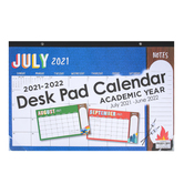 Wander Ridge Collection, 2021-2022 Desk Pad Calendar, Academic Year, 17 x 11 Inches