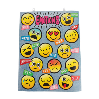 Pop Mania Collection, Emotions Chart, 17 x 22 Inches, Multi-Colored, 1 Each, Grades PreK-2