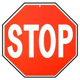 Renewing Minds, Stop Sign Two-Sided Hanging Decoration, 1 Piece