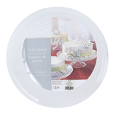 Clear Plastic Dessert Pedestal Stand, Round, Large 13.25-inch diameter x 5-inch height, 1 Each