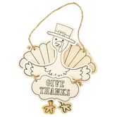 Brother Sister Design Studio, Give Thanks Turkey Ornaments, Wood, Makes 2 Ornaments