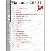 Who I Am In Christ, by Rose Publishing, Wall Chart