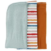 Whistling Willow, Infant Burp Cloth Set, Multi-Colored, 21 3/16 x 9 3/8 inches, 3 Pieces