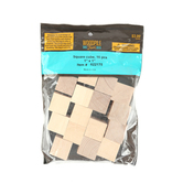 Woodpile Fun, Wooden Craft Cubes, 1 inch, Natural, 16 Count