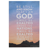Renewing Faith, Psalm 46:10 Be Still And Know Pass Along Cards, 2 x 3 inches, Set of 10