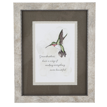 Carson Home Accents, Grandmothers Make Everything Beautiful Framed Artwork, PVC, 8 x 10 inches