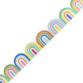 Renewing Minds, Rainbow Die Cut Trimmer, 38 Feet, Colorful Mini Arches