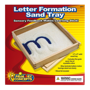 Primary Concepts, Letter Formation Sand Tray with Sand, 8 x 8 Inches, Grades PreK-2, 2 Pieces