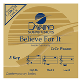 Believe For It, Accompaniment Track, As Made Popular by CeCe Winans, CD