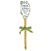 Brownlow Gifts, Mom's Kitchen Vintage Spatula, White, Green, Brown, 2.50 x 12.50 inches