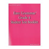Easy Grammar Grade 4 Student Test Booklet